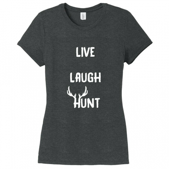 Live Laugh Hunt Women's Fitted T-Shirt