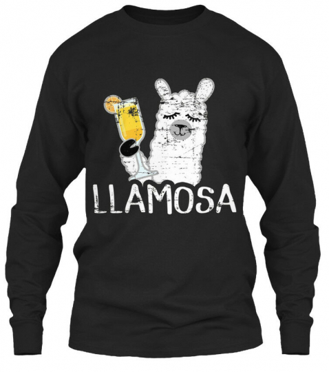 Llamosa Mimosa Llama Funny Distressed Pun Humor T Gildan Long Sleeve Tee T-Shirt