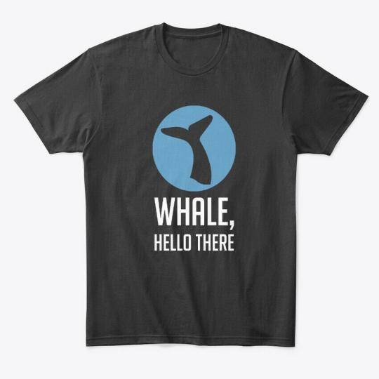 Long-lasting Whale, Hello There Pun, Funny, Humor Premium Premium Tee T-Shirt