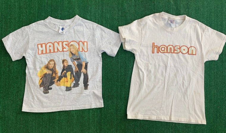 Lot Of 2 Rare Vintage 90's Hanson Band Kids Shirt Middle Of Nowhere Mmmbop
