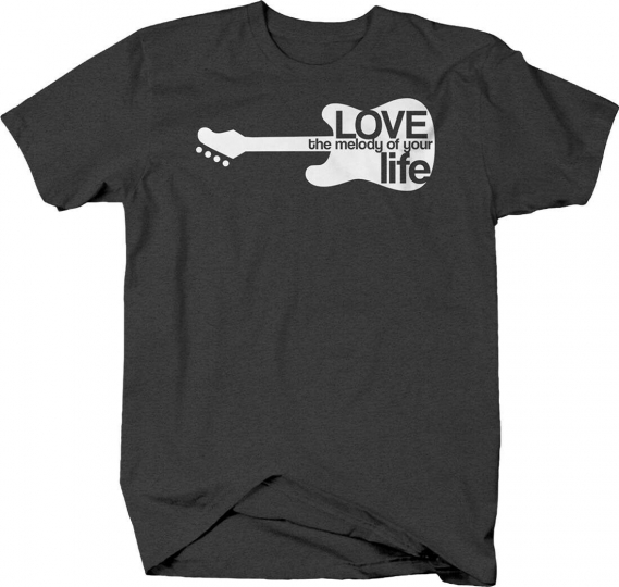 Love the melody of your life guitar silhouette music instrument Tshirt for Men