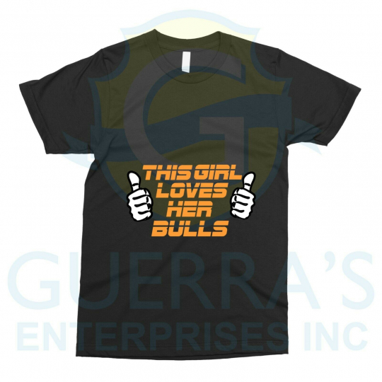 Loving Love T-Shirt, Friend Gift, Her Team Band Gifts This Girl Loves Her Bulls