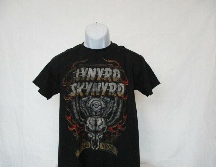 Lynyrd Skynyrd Southern Rock Vintage Band Black T-Shirt - Adult Size Small NEW
