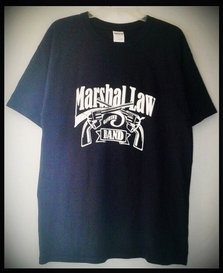 MARSHAL LAW - GENUINE BAND - T SHIRT (SIZE LARGE, 1-SIDED GRAPHIC TEE) ROCK BAND