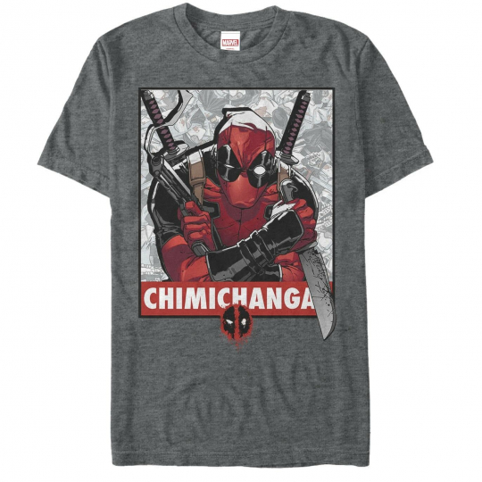 MARVEL - DEADPOOL Obey the Chimi Changas - T. SHIRT S M L XL