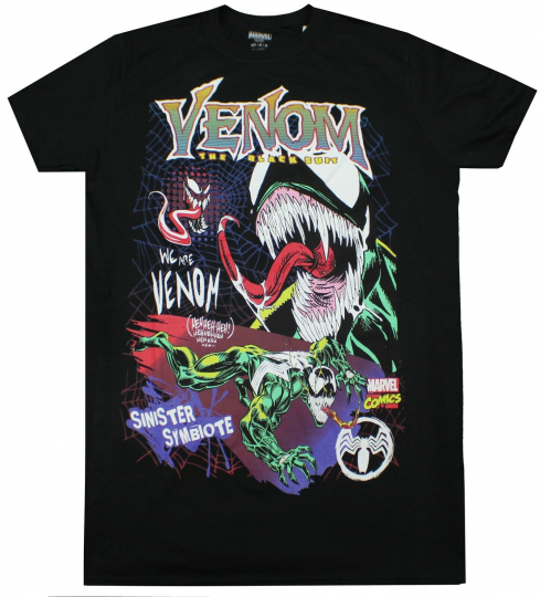 MARVEL SPIDERMAN VENOM THE BLACK SUIT T-SHIRT MENS COMIC ADULT MOVIE TEE