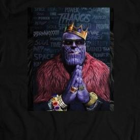 MARVEL'S THANOS GANGSTER STYLE MASH UP COMIC ART Shirt *FULL FRONT*