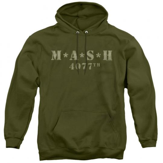 MASH TV Show DISTRESSED LOGO Licensed Adult Sweatshirt Hoodie