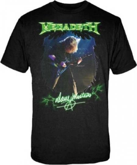 MEGADETH DAVE MUSTAINE PHOTO HEAVY THRASH METAL MUSIC T TEE SHIRT S M L XL 2XL