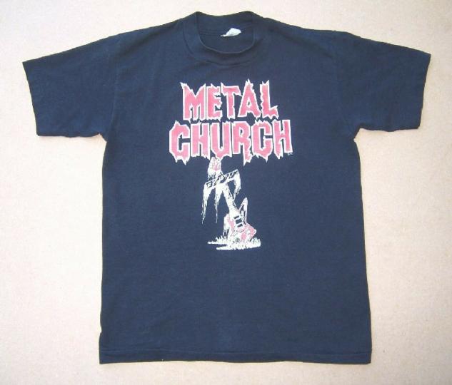 METAL CHURCH  BEWARE of the MERCILESS ONSLAUGHT VINTAGE 1984 T Shirt Medium