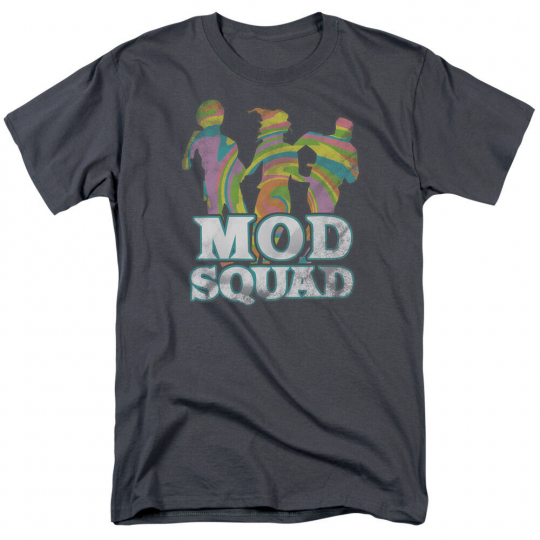 MOD SQUAD TV Show RUN GROOVY Logo Adult T-Shirt All Sizes