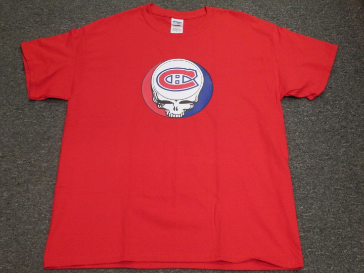 MONTREAL CNADIANS STEAL YOUR FACE GRATEFUL DEAD JERRY GARCIA NHL T-SHIRT M