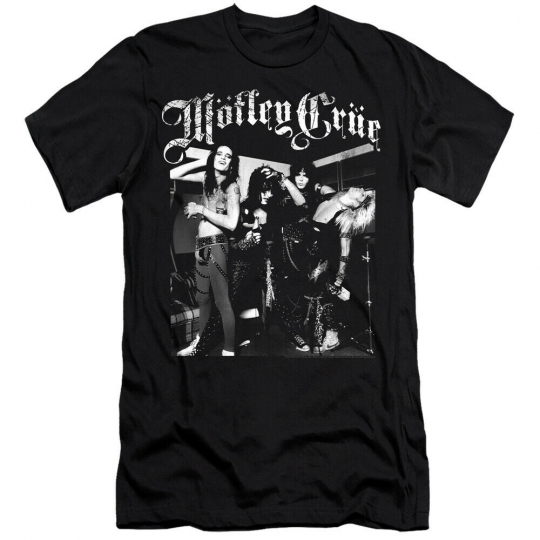 MOTLEY CRUE BAND PHOTO Licensed Adult Men's Graphic Tee Shirt SM-6XL