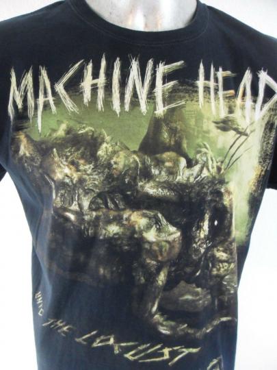 Machine Head Unto The Locust Band Album Heavy Metal Large T Shirt Roadrunner