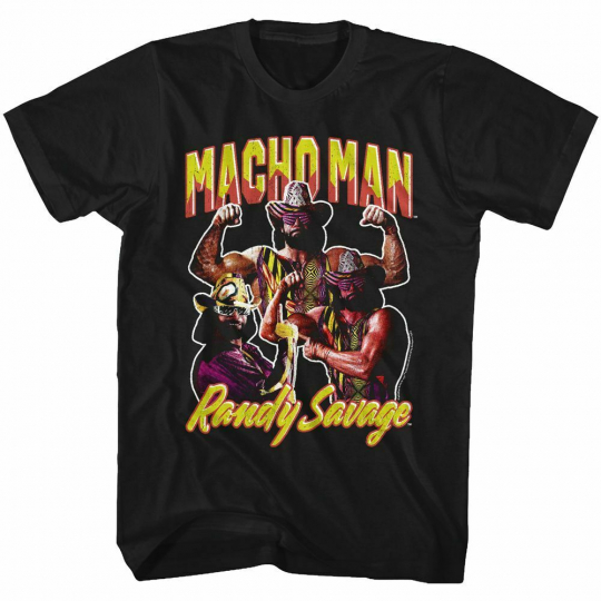 Macho Man Macho Men Black Adult T-Shirt