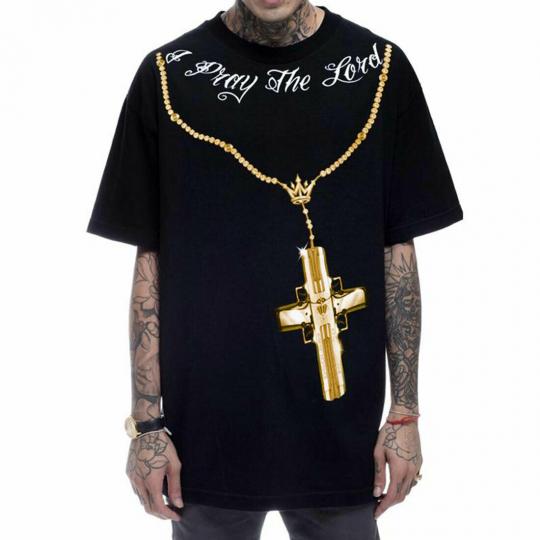 Mafioso Men's Confessions 2 Gold Short Sleeve T Shirt Black Clothing Apparel Tee