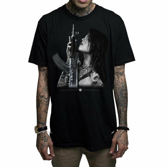 Mafioso Men's Gunplay Short Sleeve T Shirt Black Tee Guns Tattoo T-Shirts Clo...
