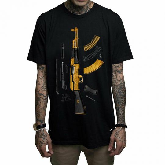 Mafioso Men's Plated Short Sleeve T Shirt Black Clothing Apparel Streetwear S...