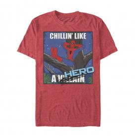 Marvel Spider-Man Chillin' Like a Hero Mens Graphic T Shirt