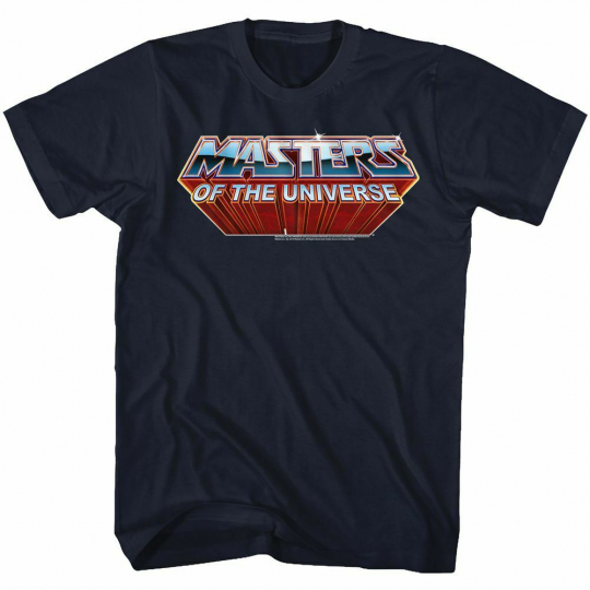 Masters of the Universe Logo Navy Adult T-Shirt