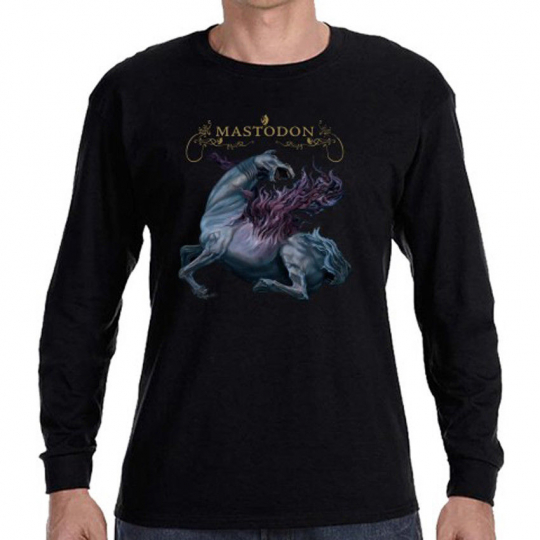 Mastodon Band Remission Album Cover Long Sleeve Black T-Shirt Size S to 3XL