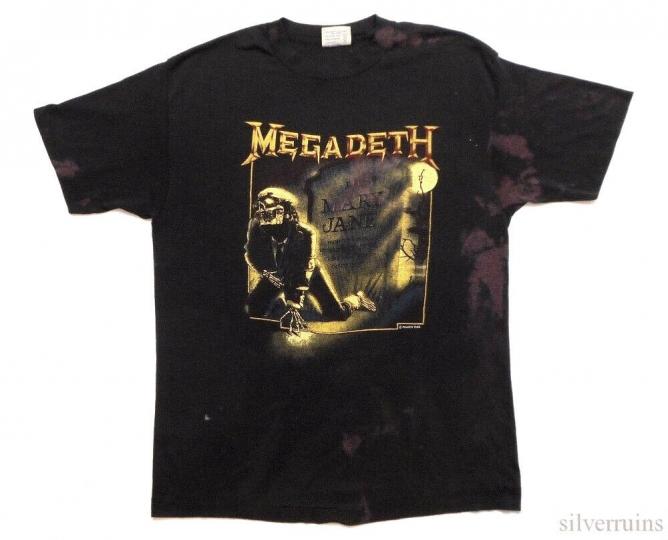Megadeth Vintage T Shirt 80's 1988 Tour Thrash Metal Band Concert Mary Jane L
