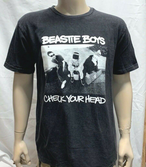 Men Beastie Boys Vintage Fade Tee  / T-shirt Check Your Head Rap Mike D