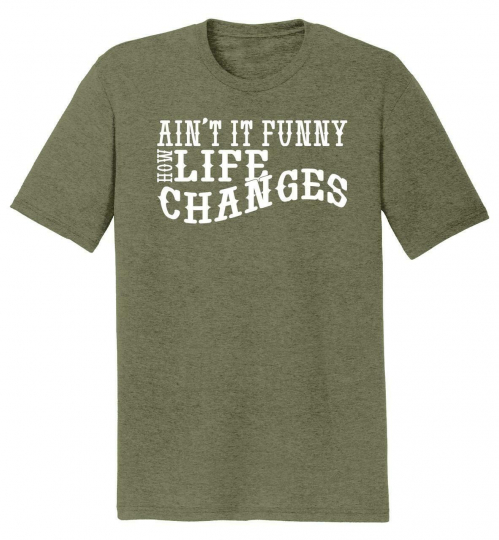 Mens Aint It Funny Life Changes Tri-Blend Tee Country Music Concert