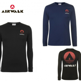 Mens Airwalk Classic Long Sleeve T-Shirt Top