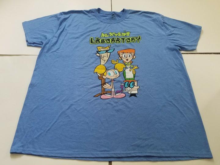 Men's Dexter's Laboratory Cartoon Network Graphic T-Shirt, Size 2XL, New