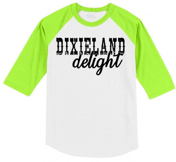 Mens Dixieland Delight 3/4 Raglan Country Music Redneck