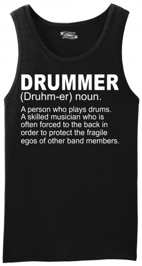 Mens Drummer A Skilled Musician Tank Top Band