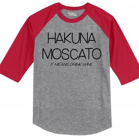Mens Hakuna Moscato 3/4 Raglan Wine Movie Parody Alcohol Shirt