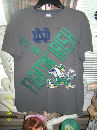 Mens Notre Dame Short Sleeve Graphic T-Shirt