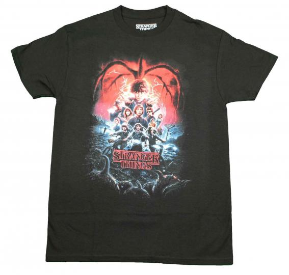 Men's Stranger Things Season 2 Poster Hawkins Licensed Short Sleeve T-Shirt Tee