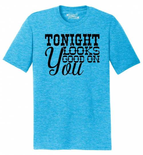 Mens Tonight Looks Good On You Tri-Blend Tee Country Music Concert