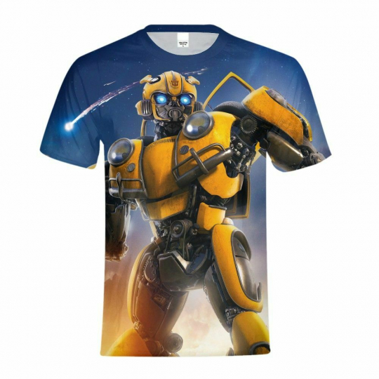 Men's Transformer T-shirt Crew Neck Shirt Cool Short Sleeves Soft Tees Custom