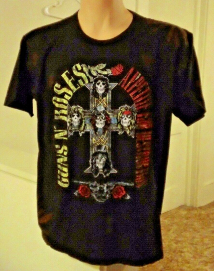 Men's Vintage Black GUNS N' ROSES Appetite For Destruction T-shirt RARE (XL)