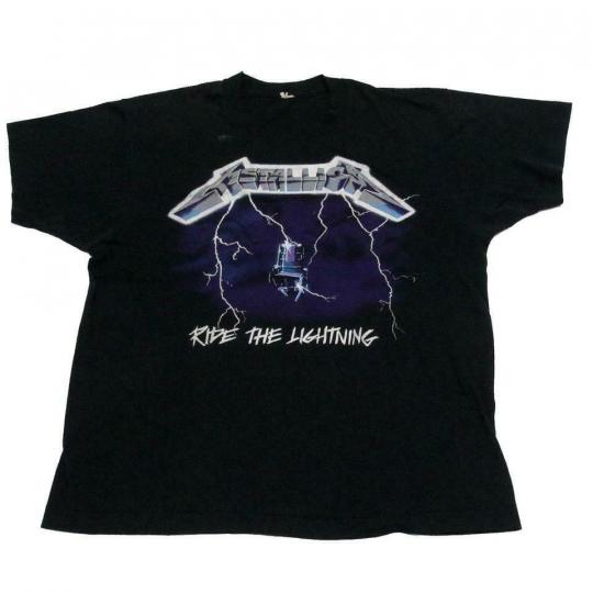 Metallica Black Tour Band From 1987 Vintage Rare Concert Rock Tee Shirt M