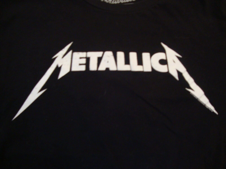 Metallica Rock Band Logo Concert Tour Fan Black T Shirt Size XL