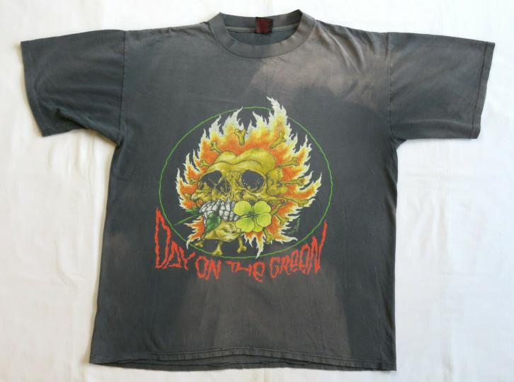 Metallica Vintage T Shirt 1990's Concert Tour XL Pushead 1991 Day On The Green
