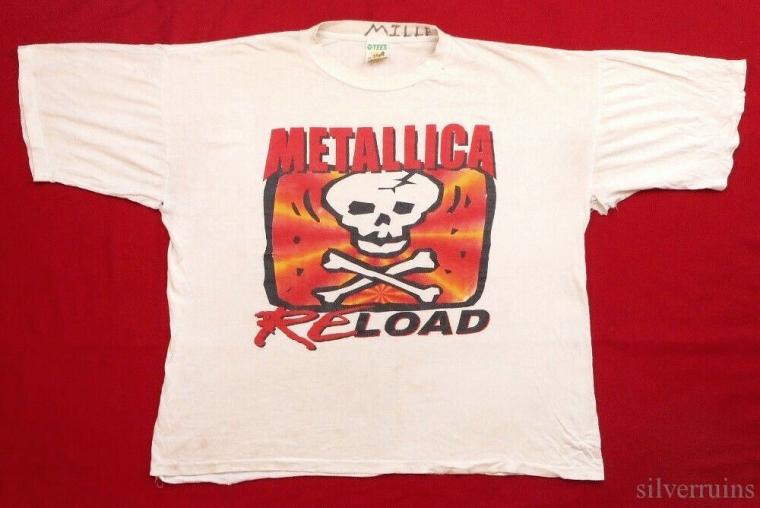 Metallica Vintage T Shirt 1990's Re Load Tour Rock Band Concert Thrashed!!