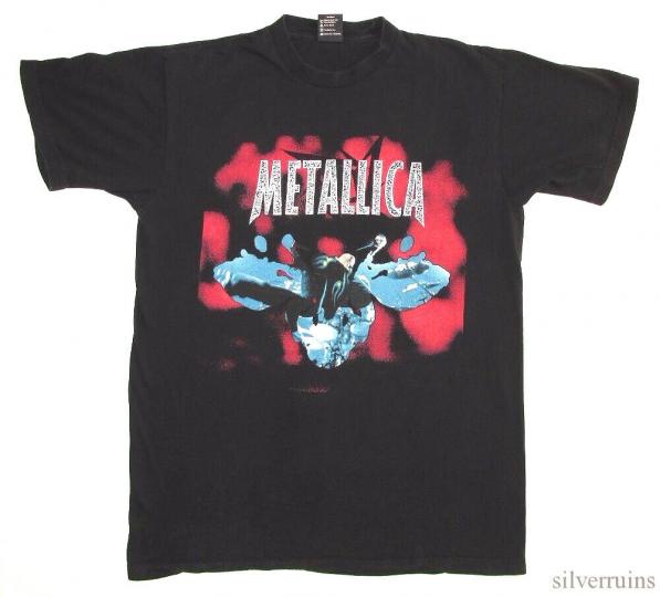 Metallica Vintage T Shirt 1990's Re Load Tour Rock Band Concert Hetfield Leap L