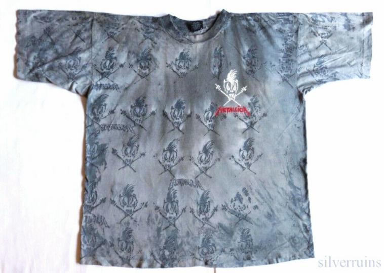 Metallica Vintage T Shirt 1990's Tour Concert XL Scary Guy Allover Print Birth