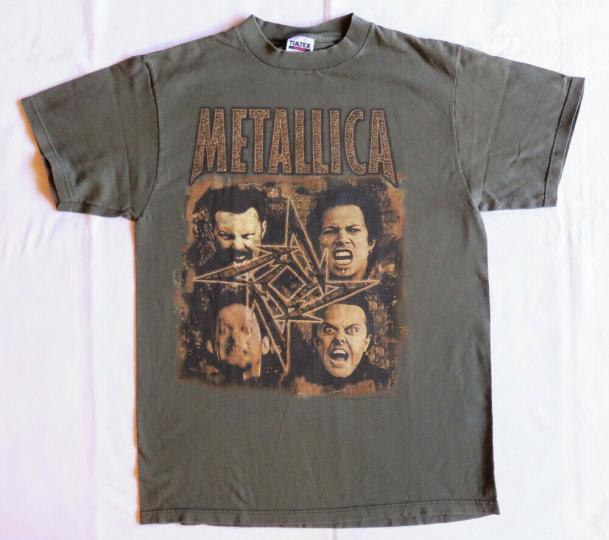 Metallica Vintage T Shirt 1996 1997 Poor Touring Me Dates L Rock Band Concert