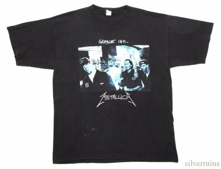 Metallica Vintage T Shirt 1998 Garage Inc. Tour Concert XL Rock Band