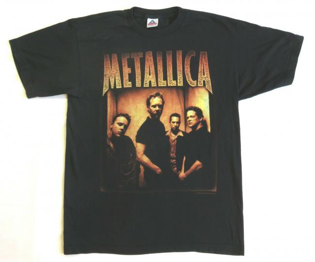 Metallica Vintage T Shirt 1998 Tour Concert Summer Dates Rock Band L AAA Tag