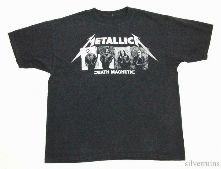 Metallica Vintage T Shirt 2000's Concert Tour Death Magnetic Rock Band XL