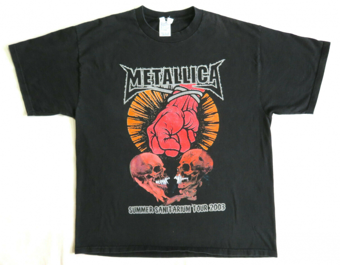 Metallica Vintage T Shirt 2000's Tour Concert 2003 Summer Sanitarium Pushead XL