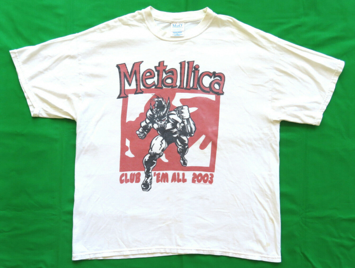 Metallica Vintage T Shirt 2003 So What Club Em All Ten Years Kill Rock Band XL